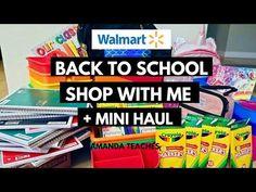 Walmart Back to School Haul and Walkthrough Teacher School Supplies Shop With Me - YouTube Back To School Checklist, Back To School Sales, Back To School Shopping, School Supplies For Teachers, Back To School Supplies, New School Year, I School, Family Stress, Teacher Discounts