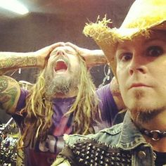 John 5 and Rob Sherri Moon Zombie, Scary, Creepy, White Zombie, John 5, Rob Zombie, Alternative Music, Metalhead, Film Director