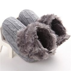 2016 New Warm First Walkers Winter Baby Ankle Snow Boots Infant Fleece Baby Shoes Crochet Knit newborn booties Best Baby Shoes, Cute Baby Shoes, Ankle Snow Boots, First Walkers, Crochet Baby Shoes, Baby Winter, Organic Baby, Winter Boots, Baby Knitting