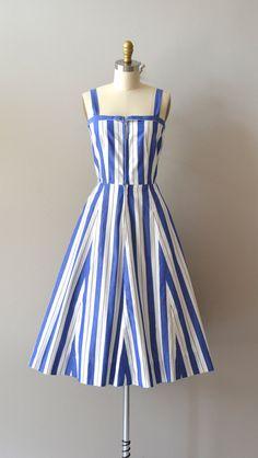vintage 1950s NAUTICAL MILE dress