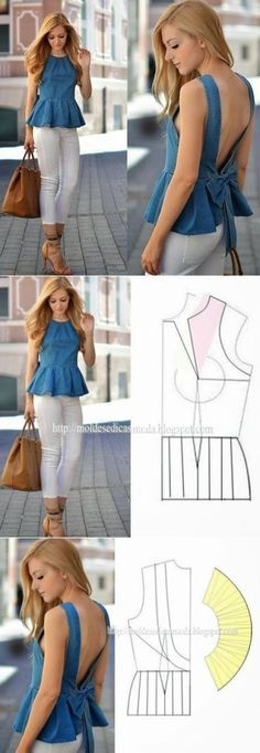 Amazing Sewing Patterns Clone Your Clothes Ideas. Enchanting Sewing Patterns Clone Your Clothes Ideas. Sewing Patterns For Kids, Dress Sewing Patterns, Blouse Patterns, Clothing Patterns, Fashion Sewing, Diy Fashion, Ideias Fashion, Fashion Clothes, Sewing Jeans