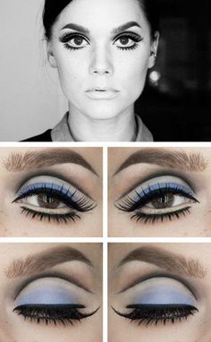 Twigs Eyes Twiggy Eyes - Retro hair and makeup ideas that you can use in another . - Twigs Eyes Twiggy Eyes – Retro hair and makeup ideas that take you back in time – Photos The mo - Twiggy Makeup, Retro Makeup, Cute Makeup, Hair Makeup, 70s Disco Makeup, 1970s Makeup Eyes, Sixties Makeup, Twiggy Hair, Doll Eye Makeup