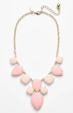 Love this pink Kate Spade statement necklace.
