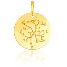 Médaille Arbre de Vie Or Jaune 18K - Second Effect