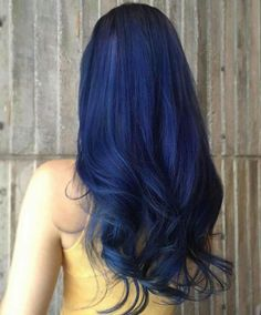 The On-Trend Summer blue Hair Color. Trying a new hair color is a recurring theme for summer. Hair Color Blue, Green Hair, Purple Hair, Pastel Hair, Smokey Blue Hair, Red Velvet Hair Color, Dark Blue Hair, Pastel Pink, Coloured Hair