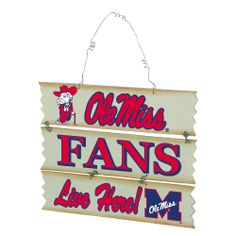 Mississippi Hanging Fan Sign