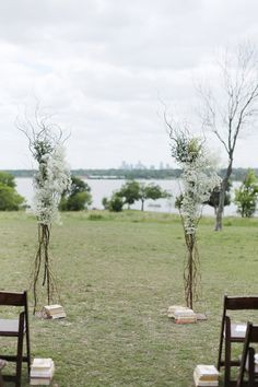 """Love these tall airy ceremony """"columns"""""""