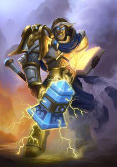 Uther Lightbringer - Hearthstone: Heroes of Warcraft Wiki World Of Warcraft, Art Warcraft, Warcraft Heroes, Warcraft Characters, Uther Lightbringer, Hearthstone Heroes Of Warcraft, Gaming Posters, Armadura Medieval, Heroes Of The Storm