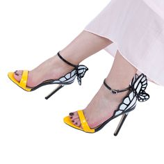 Butterfly Design High Heel Sandals