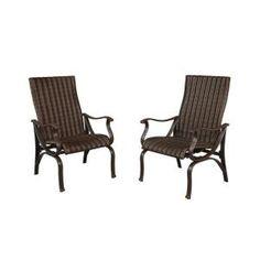 Hampton Bay Pembrey Patio Lounge Chair With Moss Cushion