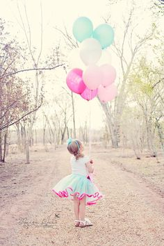 Albuquerque Children Photography, Birthday photo shoot, Balloons photo shoot ideas, Kids birthday pictures, Little Girl Birthday photo ideas