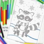 Sleeping Cats Coloring Page - Coloring Pages for Adults - Easy Peasy and Fun