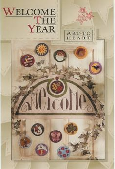 art to Heart welcome the year - Poliana - Picasa Web Albums Painting Patterns, Quilt Patterns, Sewing Magazines, Applique Fabric, Book And Magazine, Painted Books, Penny Rugs, Book Quilt, Quilt Stitching