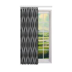 Flowing vertical white / light grey ribbons on a black background. Black And White Ribbon, Grey Ribbon, Black White, Steel Curtain, Dust Collection, Window Curtains, White Light, Decor Styles, Ribbons