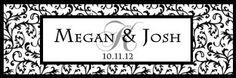 28 Personalized Wedding Wedding Damask Votive Candle Labels   eBay