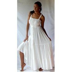 Amazon.com: WHITE DRESS SMOCKED ELASTIC RUFFLED - FITS (ONE SIZE) - L XL 1X 2X - V344S LOTUSTRADERS: Clothing