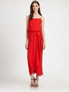 Haute Hippie Silk Ruffle Gown