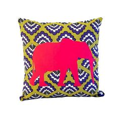 Elephant Scatter Cushion - KNUS Scatter Cushions, Throw Pillows, African Interior, Christmas Sewing, Elephant, Arts And Crafts, Christmas Decorations, Kitenge, Diy