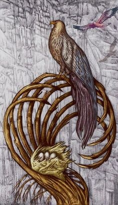 8 de bâtons - Universal Fantasy Tarot par Paolo Martinello