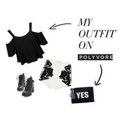 Black & White by ressiressia on Polyvore featuring Miss Selfridge, Cameo, Summer, trend, CasualChic and sunday