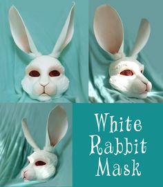White Rabbit Mask by Surlybunny.deviantart.com on @DeviantArt