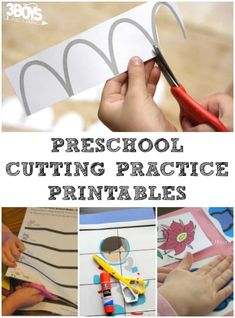 These cutting practice printables for preschoolers are an excellent way to strengthen fine motor skills in your early learner! Preschool Cutting Practice, Cutting Activities, Fun Activities For Toddlers, Dementia Activities, Hands On Activities, Kindergarten Activities, Preschool Activities, Motor Activities, Physical Education Games