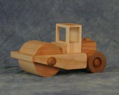 Carro de juguete de madera cemento por JoliLimited en Etsy