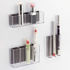 $10 for 3 BUY NOW This budget-friendly make-up organizing set is strictly for those who have no countertop space (we're looking at you, city dwellers!). If you have a smaller cosmetic collection, and just want to keep the standard sticks you use available, these magnetic pods are the perfect fit.