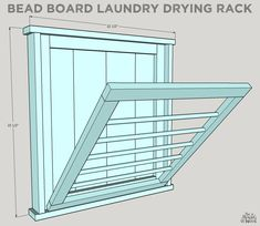 How To Build a DIY Ballard Designs Laundry Drying Rack – Laundry Room İdeas 2020 Laundry Room Drying Rack, Drying Rack Laundry, Laundry Closet, Laundry Room Organization, Laundry Room Design, Small Laundry, Laundry Rooms, Diy Clothes Drying Rack, Basement Laundry