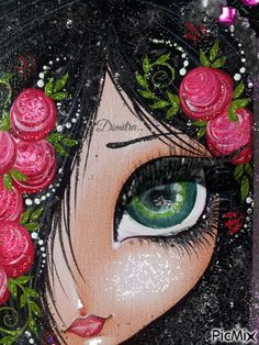 Girl portait art. Stickers, Halloween Face Makeup, Greeting Cards, Marvel, Videos, Beautiful, Art, Pretty Quotes, Bonito