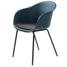 Spisestuestol i plast og metal Chair, Metal, Furniture, Home Decor, Products, Material, Modern, Blue Grey, Black