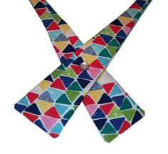 Summer Triangles Cross Tie  Self Tie Bow Tie  by SunFlowerFreckles