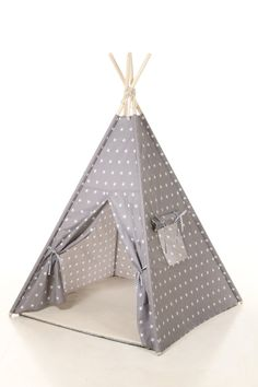 Kids nursery gray stars teepee cotton house. Gray by letterlyy