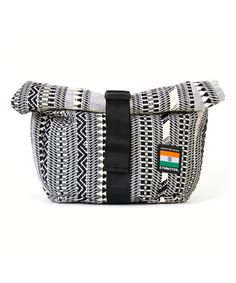 Take a look at this Black & White Cyclo Sling Messenger Bag on zulily today!