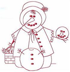 Embroidery.com: June Snowman: Individual Designs