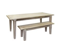 Beachwood Furniture - Limed recycled hardwood dining table 1800L x 900W