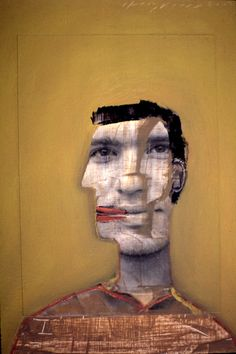 Holly Roberts One Painting at a Time: Young Man Smiling 2000, portrait.