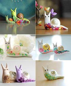 #diy Polymer Clay #Snail