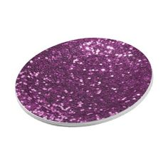 Purple Faux Glitter Sparkles Paper Plate - fancy gifts cool gift ideas unique special diy customize