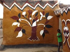 Gaoui Village African Traditional Architecture, Chad African Architecture and Design African Hut, Build House, Vernacular Architecture, Street Art Graffiti, African Prints, Pots, Design Inspiration, Clay, Earth