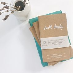Dwell Deeply Journal // Christian Quiet Time Journal - perfect quiet time companion to help you process and apply truth.