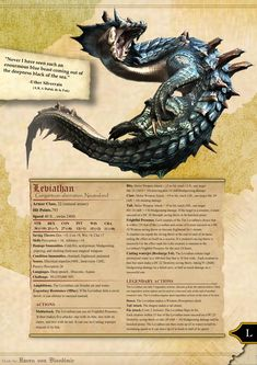 Leviathan storm variant Dungeons and dragons by RavenVonBloodimir on DeviantArt Dungeons And Dragons Races, Dnd Dragons, Dungeons And Dragons Homebrew, Dungeons And Dragons Characters, Dungeons And Dragons Classes, Mythological Creatures, Fantasy Creatures, Mythical Creatures, Sea Creatures