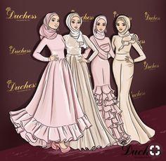New fashion ilustration croquis dresses ideas Dress Design Sketches, Fashion Design Sketchbook, Fashion Illustration Sketches, Fashion Design Drawings, Fashion Sketches, Muslim Fashion, Hijab Fashion, Fashion Art, Girl Fashion