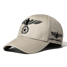 f9e16dcf 100% Cotton Eagle Embroidery Baseball Cap Outdoor Sports Breathable Sun Hat  For