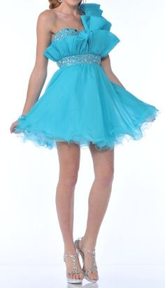 Zeilei 458 One Shoulder Short Sweet 16 Homecoming « Dress Adds Everyday