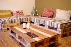 Light weight pallet furniture project