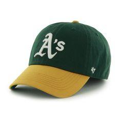 a71806a2e22c4 Oakland Athletics 47 Brand Franchise Green Yellow White Logo Home Hat Cap