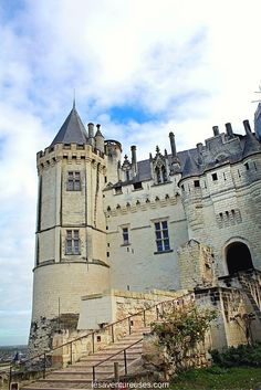 Château de Saumur - Le Saviez-vous : Jusqu'à la fin du XIIè siècle, la fortification et la tour s'appelait : Château Saumur et non pas château de Saumur. Monuments, Ville France, Blog Voyage, Habitats, Barcelona Cathedral, Places To Visit, Castle, Tower, England