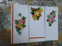 Quilled envelopes - by: Leena Shah - www.facebook.com/