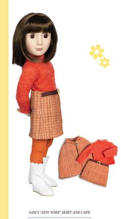 Newest release from A Girl for All Time - Sam, Your 1960s Girl™. I need a cape and skirt like this for myself !